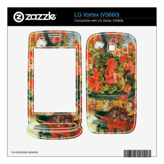 Geraniums and cats by Pierre Renoir Skins For The LG Vortex