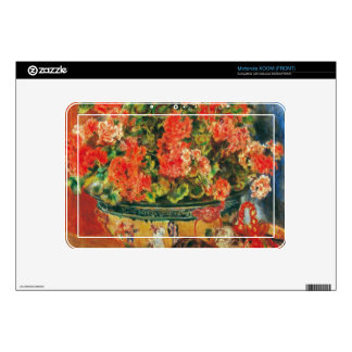 Geraniums and cats by Pierre Renoir Motorola XOOM Decal