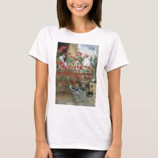 Geraniums by Childe Hassam, Vintage Impressionism T-Shirt