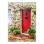 "Geraniums by Red Door 5"" X 7"" Invitation Card"