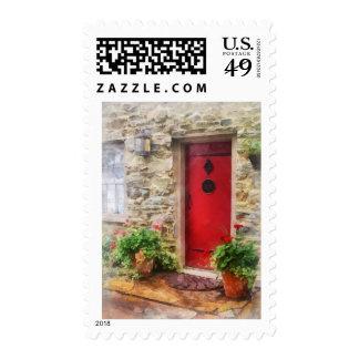 Geraniums by Red Door Postage