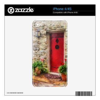 Geraniums by Red Door Skin For The iPhone 4
