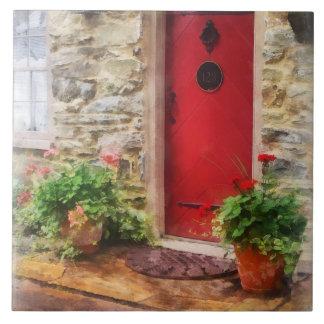 Geraniums by Red Door Tile