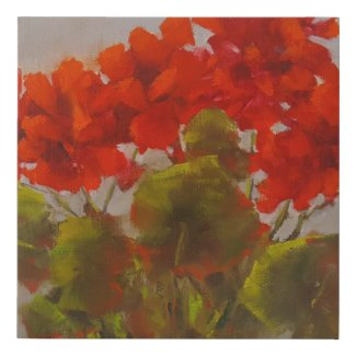 """Geraniums"" Faux Canvas Print"