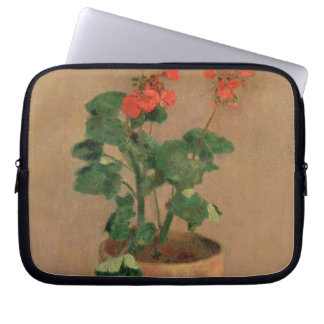 Geraniums in a Pot, c.1905 (oil on canvas) Computer Sleeve