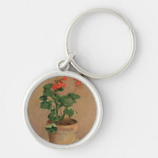 Geraniums in a Pot, c.1905 (oil on canvas) Keychain