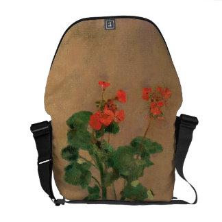 Geraniums in a Pot, c.1905 (oil on canvas) Messenger Bag