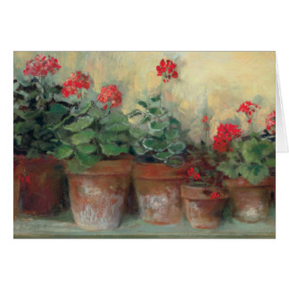 Geraniums in Pots Greeting Card