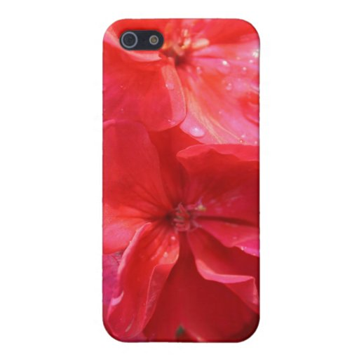 Geraniums iPhone 5 Covers