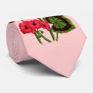geraniums neck tie