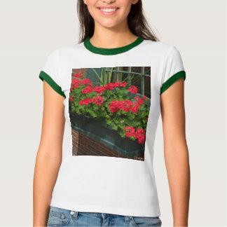 Geraniums Red Green Window Box T-Shirt