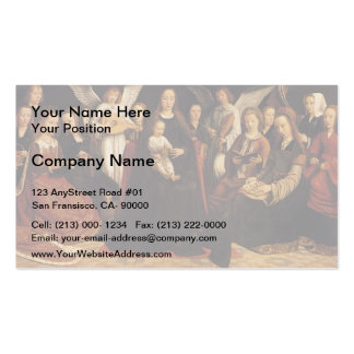 Gerard David- Madonna with Angels and Saints Business Cards