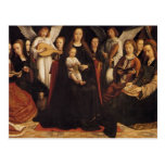 Gerard David- Madonna with Angels and Saints Post Cards