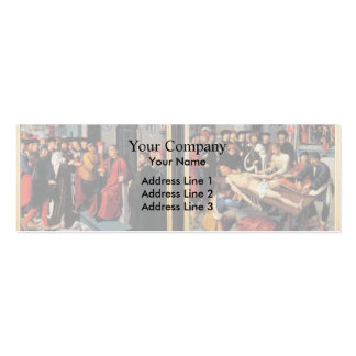 Gerard David- The Judgement of Cambyses Business Card Templates