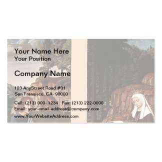 Gerard David- Triptych of Jean Des Trompes Business Card Templates