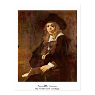 Gerard De Lairesse By Rembrandt Van Rijn Tarjeta Postal