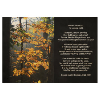 Gerard Manley Hopkins Classic Poetry Wood Poster