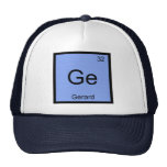 Gerard  Name Chemistry Element Periodic Table Trucker Hat