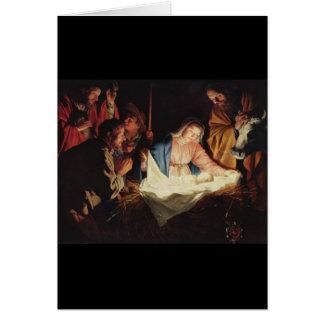 Gerard van Honthorst Nativity Greeting Card