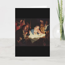 Gerard van Honthorst Nativity Holiday Card