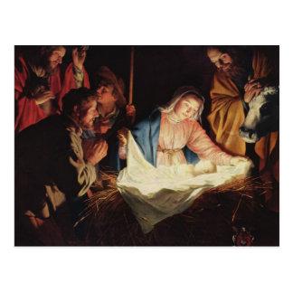 Gerard van Honthorst Nativity Postcard