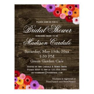 Gerber Daisies Bridal Shower Invite Postcards