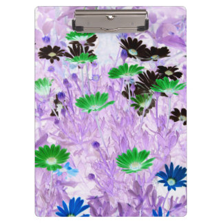 gerber daisies field multi colored flower invert clipboard