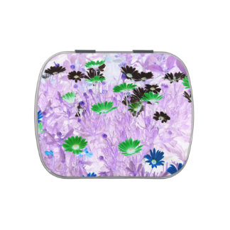gerber daisies field multi colored flower invert jelly belly tins