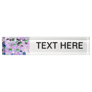 gerber daisies field multi colored flower invert name plate