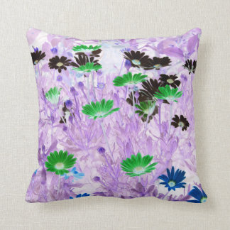 gerber daisies field multi colored flower invert throw pillow