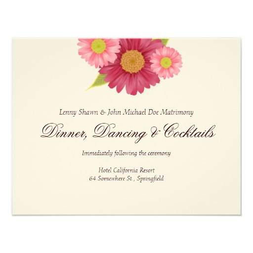 Wedding Invitation Embossed with adorable invitations layout