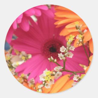 Gerber Daisy Classic Round Sticker