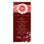 Gerber Daisy Scroll 1 Wedding Program red Custom Announcement