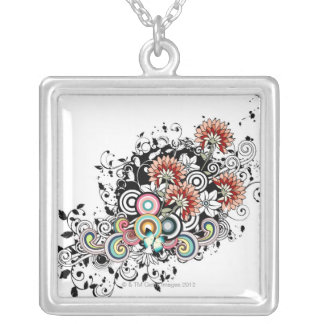 Gerber Daisy Silver Plated Necklace