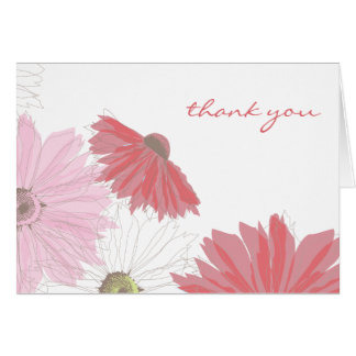Gerber Daisy Thank You Card