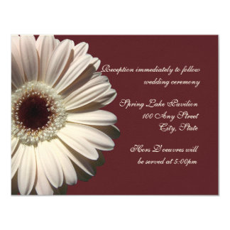 Gerber Daisy Wedding Card