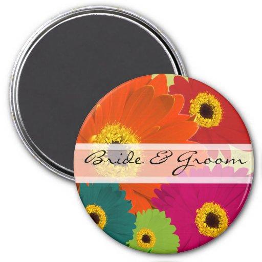 Gerber Daisy Wedding Magnets