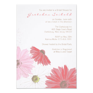Gerber Daisy Wedding Shower Invitation