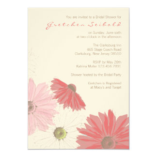 Gerber Daisy Wedding Shower Invitation