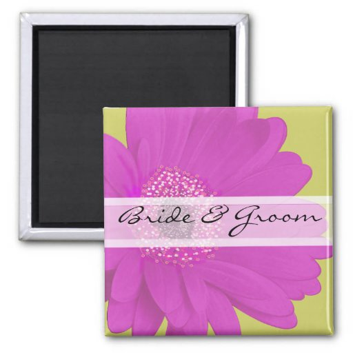 Gerber Daisy Wedding Stickers or Customize Magnet