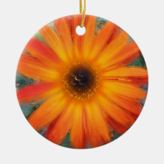 Gerbera 2 ceramic ornament