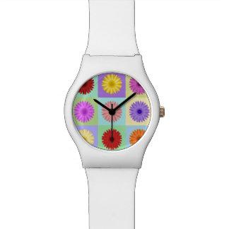 Gerbera 3x3 Daisy Design Wrist Watch