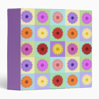 Gerbera 5x5 Daisy Pattern 3 Ring Binder