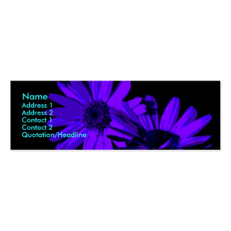 gerbera at night 1 business card template
