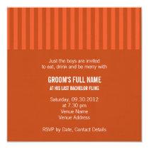 Gerbera Bachelor Party Invitation