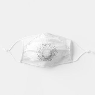 Gerbera BW Cloth Face Mask