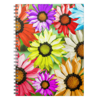 Gerbera colourful flowers notebook