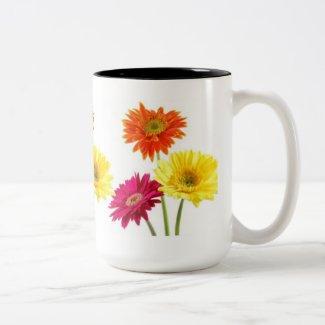 Coffee Lovers Mugs Gerbera Daisies