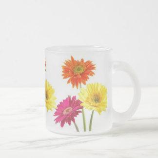 Gerbera Daisies 10 Oz Frosted Glass Coffee Mug