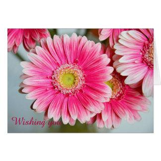 Gerbera Daisies & custom Text birthday card